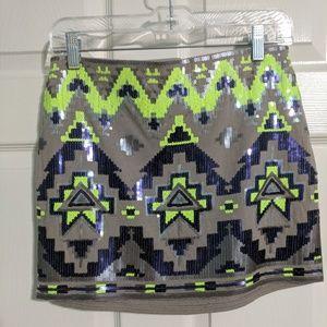 Express Sequined Skirt